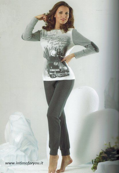 Pigiama VENERE 7631 serie Trendy in cotone interlok