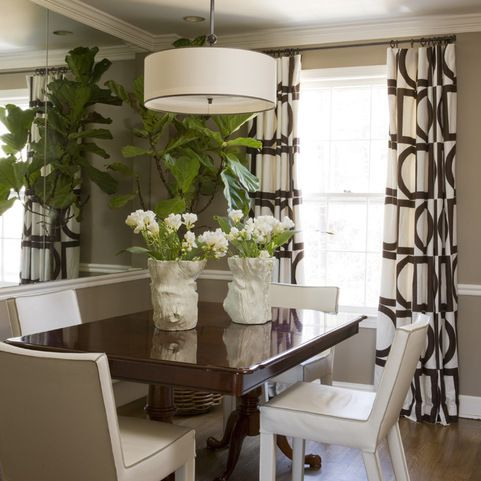Beige Wall Olive Green Curtain Design Ideas Pictures Remodel And Decor Small Dining RoomsContemporary