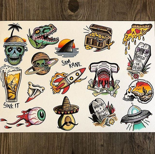 Flash By Samkanetattoo Traditional Traditionalflash Flashtattoo Traditi Old School Tattoo Designs Traditional Tattoo Old School Flash Art