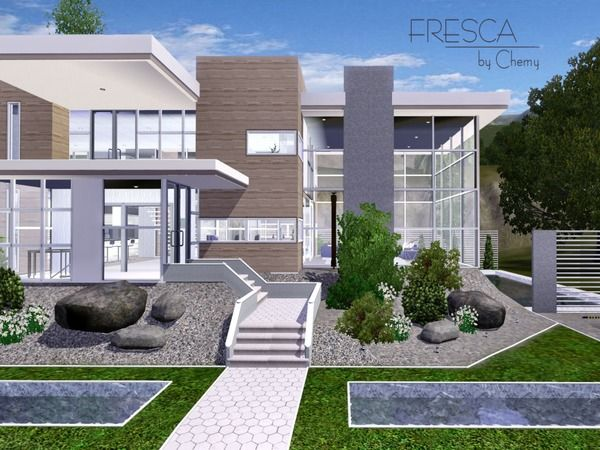 Fresca Modern house by chemy Sims 3 Downloads CC Caboodle