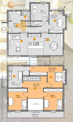 Grundriss einfamilienhaus modern obergeschoss  traumhäuser grundrisse modern offen - Google-Suche | haus ...