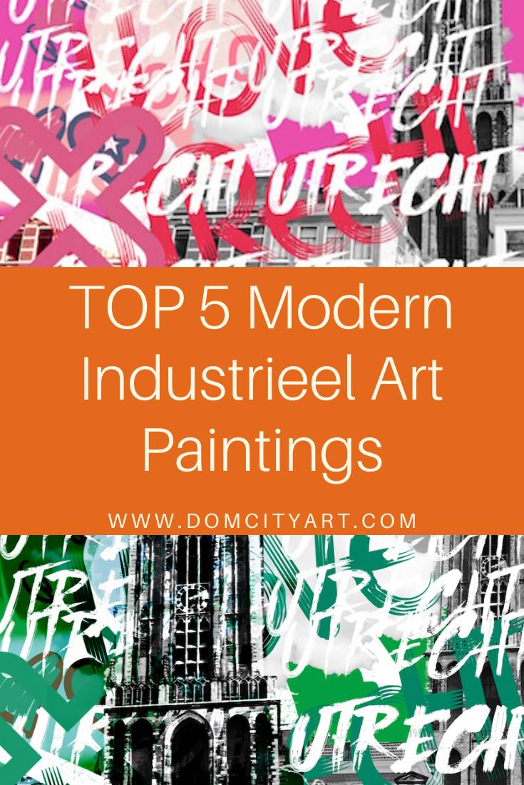 Photo of Moderne kamer industriële digitale kunst plexiglas Nederlandse schilderkunst Amber Houweling Utrecht Domcityart