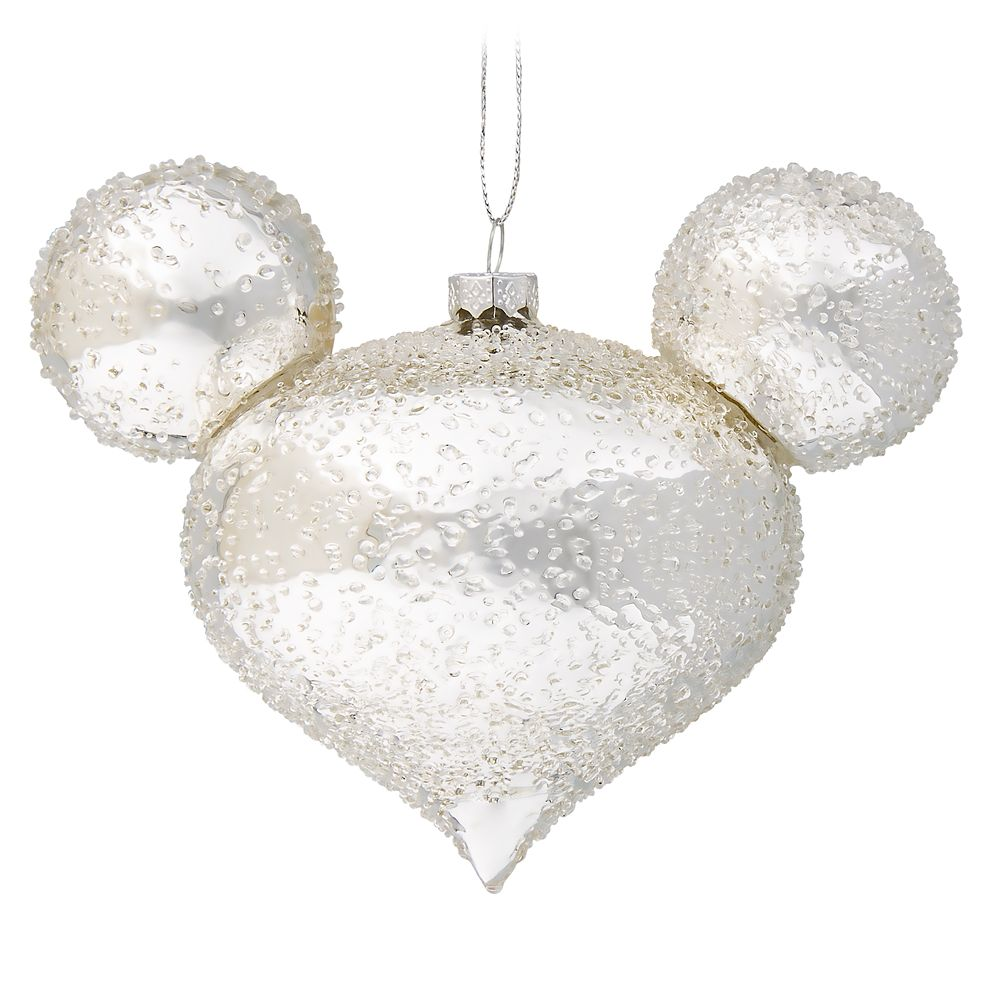 Disney Mickey Mouse Icon 2020 Metal Christmas Ornament Mickey Mouse Icon Glass Ornament – Silver Ice | shopDisney in 2020