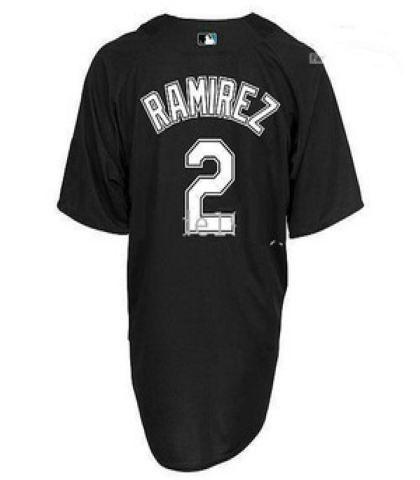premium selection ed48a 57fbe Florida Marlins Jersey 2 Hanley Ramirez BP Jerseys Black ...