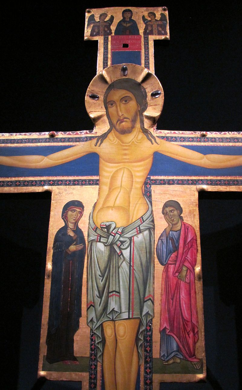 Berlinghiero Berlinghieri - Croce di Lucca - c. 1220 - Tempera su tavola - Museo Nazionale di Villa Guinigi, Lucca