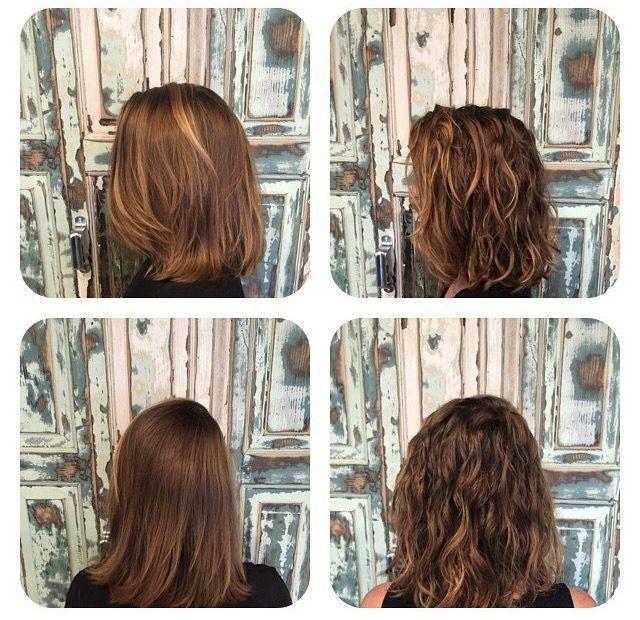Before And After Beach Wave Perm On Short Hair Dauerwelle Wellen
