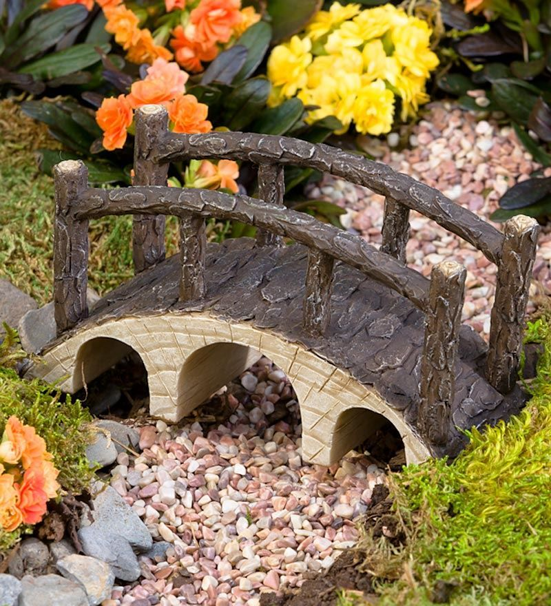 Miniature Fairy Garden Footbridge Garden Whimsy Fairy