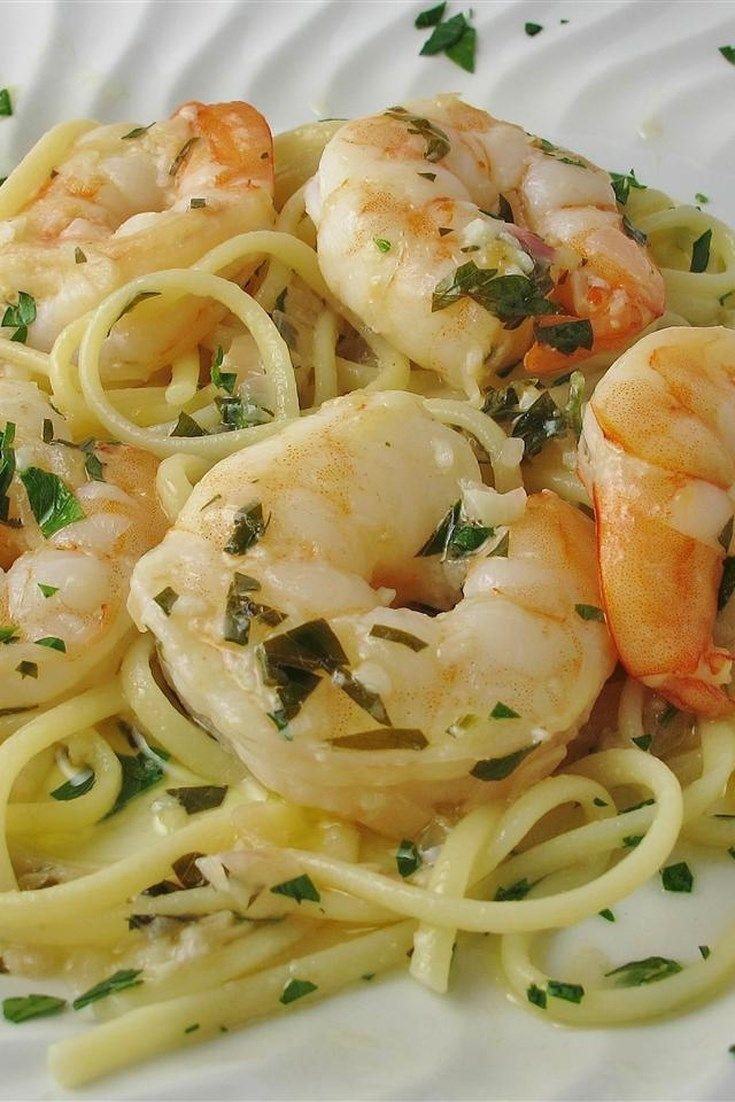 Shrimp Scampi with Pasta #shrimpscampi