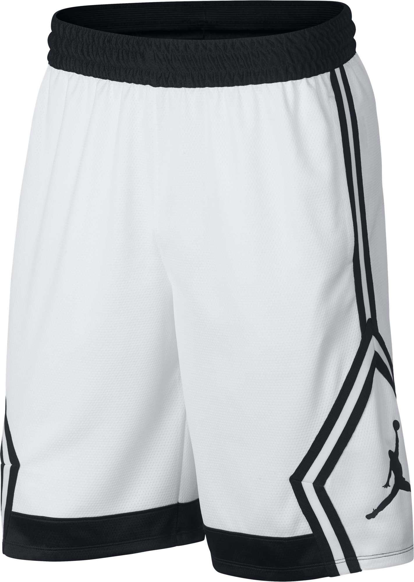 bd9fda36ce43d Jordan Men's Rise Diamond Basketball Shorts | Products | Mens white ...