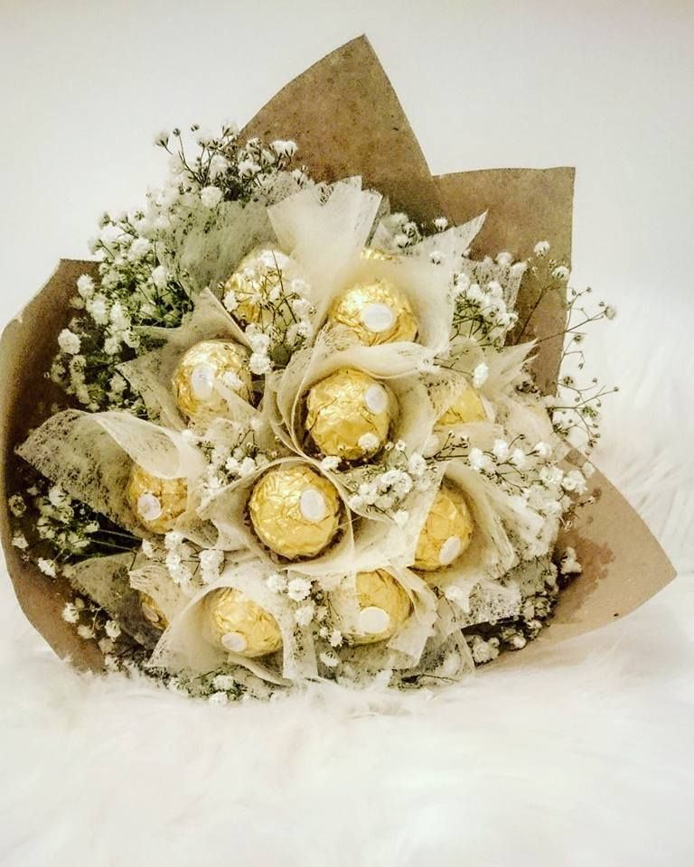 Csoki virágcsokor! Ferrero Rocher! Chocolate bouquet diy ...