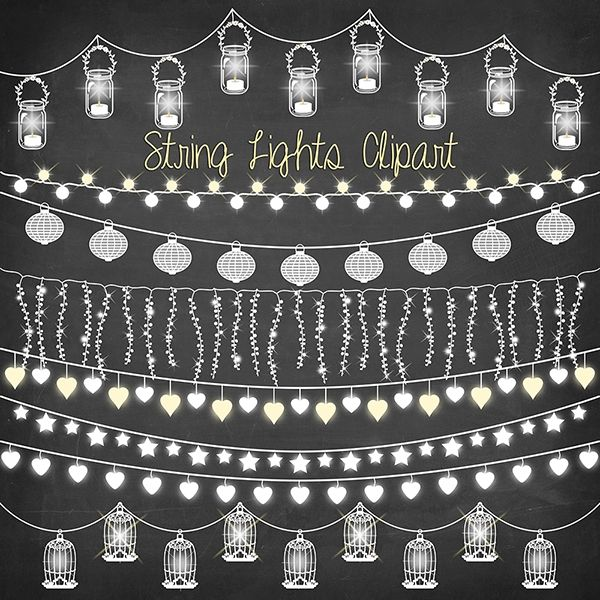 String Lights Clipart Amazing Download Chalkboard String Lights  Craft Supplies  Pinterest Inspiration