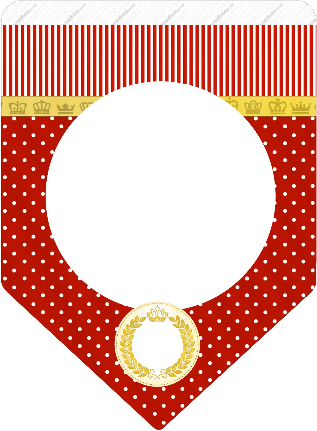 Bandeirinha Varalzinho Realeza Vermelho | Varais, Realeza ...