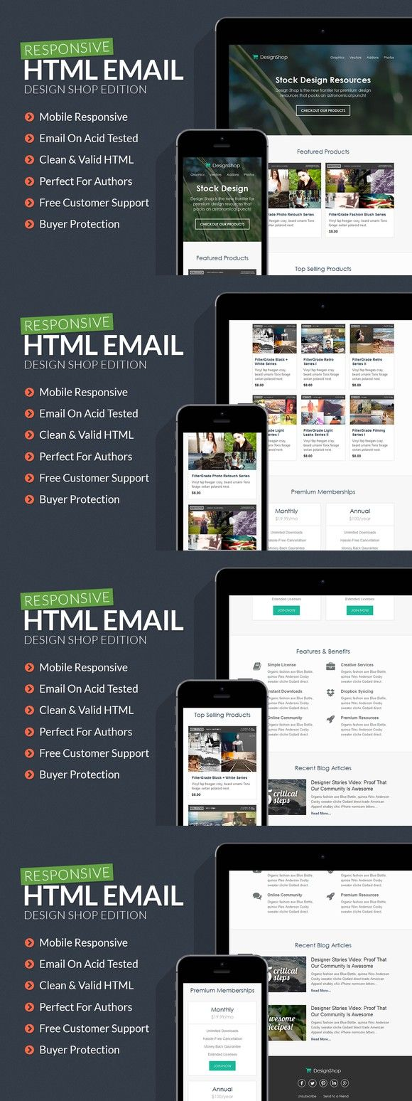 Design Shop Responsive Email | Responsive email, Design shop and ...