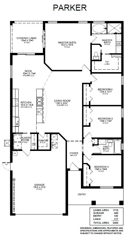 Parker Floor Plan Highland Homes Floor Plans House Floor Plans Highland Homes