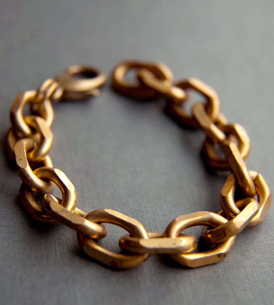 twisted brass p chains link chain