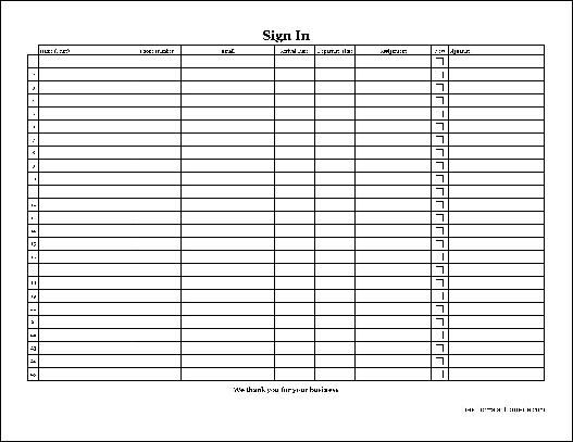 customizable printable sign up sheets templates | ... -Copy ...