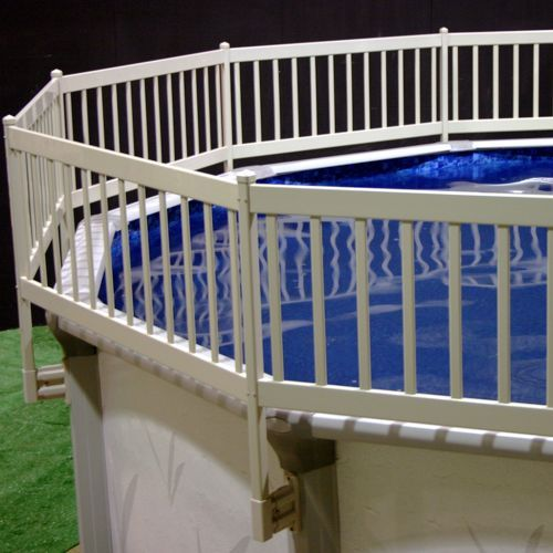 Above Ground Pool Fence Ideas above ground pool landscaping above ground pools wdeck Find This Pin And More On Pools Ideas Vinyl Works Above Ground Pool Fence