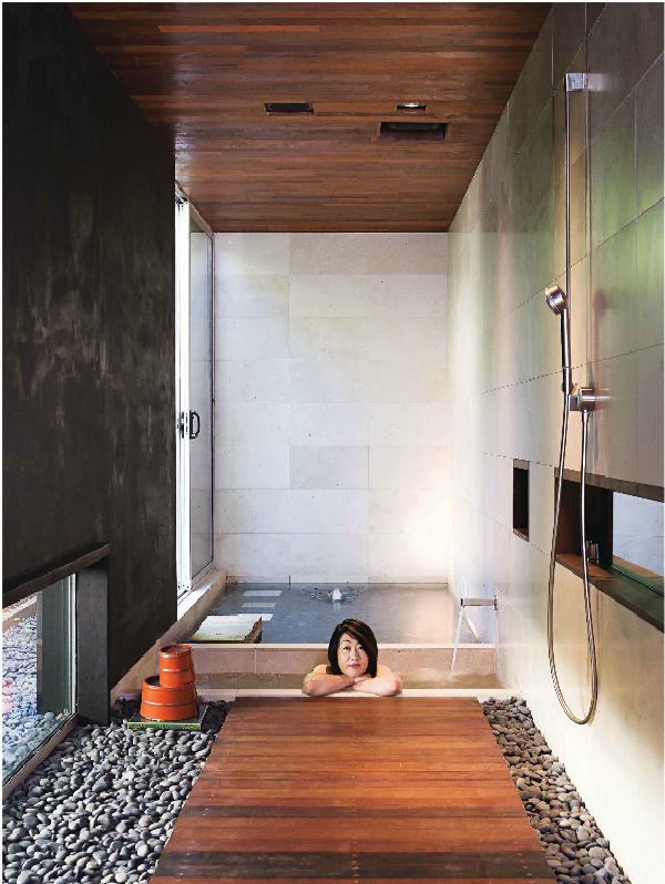 ambiance of a Japanese Bathroom- like the rocks