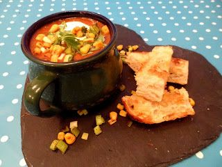 Tiny Kitchen Fast Diet Recipe Store Cupboard Supper Of Black Bean Soup