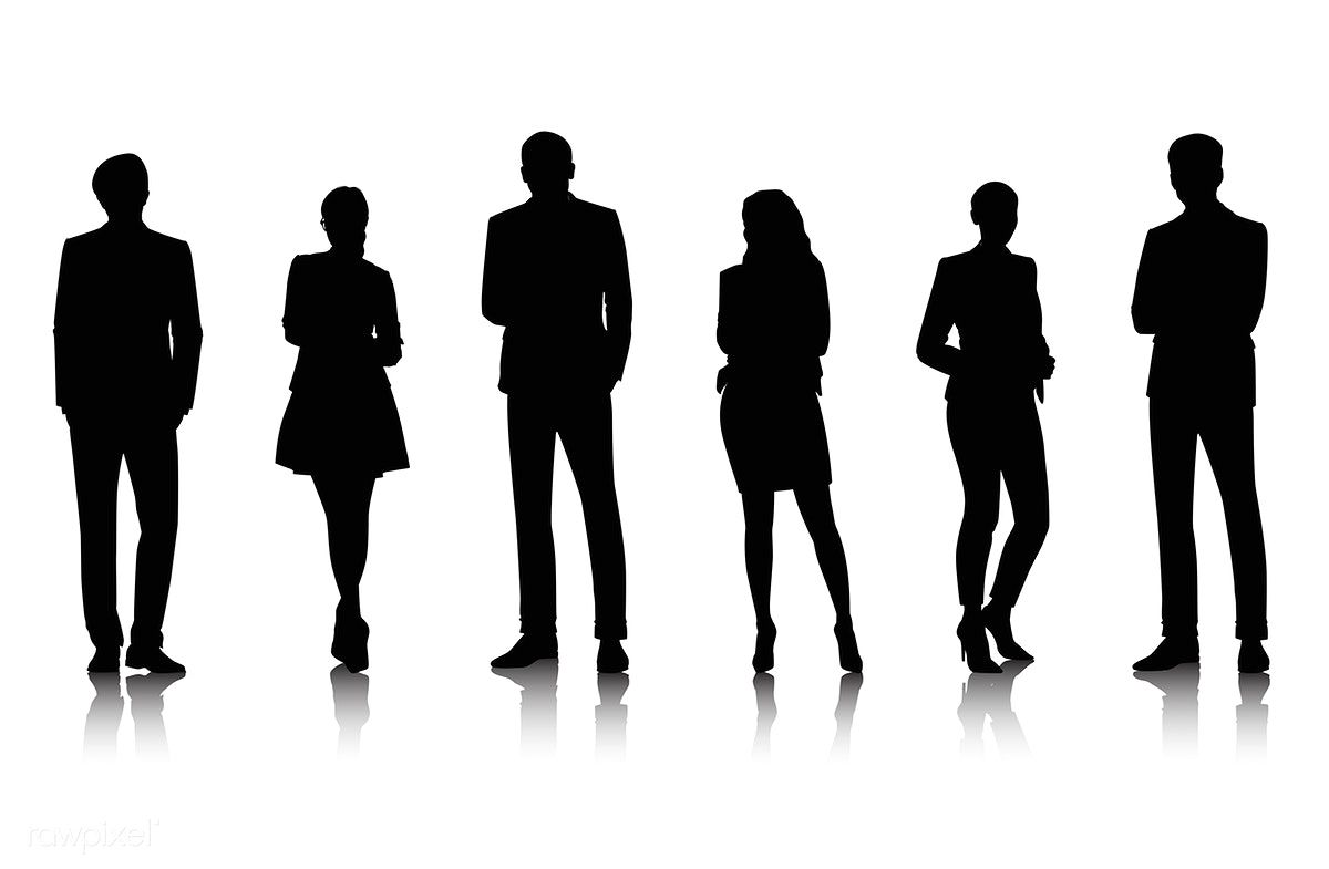 Download Premium Vector Of Illustration Of Business People 389454 Black Silhouette Illustration Human Shadow