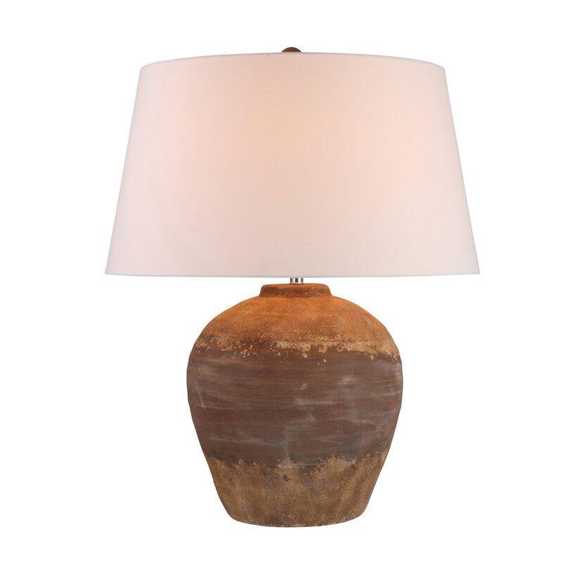 Damita 28 Brown Table Lamp In 2021 Lamp Table Lamp Brown Table Lamps