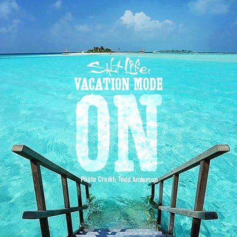 Vacation Mode ON!!!!!! SaltLife Beach Quotes Pinterest
