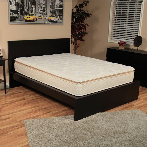 Nuform Quilted Pillow Top 11 Inch King Size Foam Mattress Overstock Shopping Great Deal Queen Size Foam Mattress King Size Foam Mattress Bed Frame Mattress