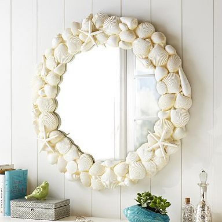 Diy Beach Themed Bathroom Mirror Beach Room Decor Ocean Themed