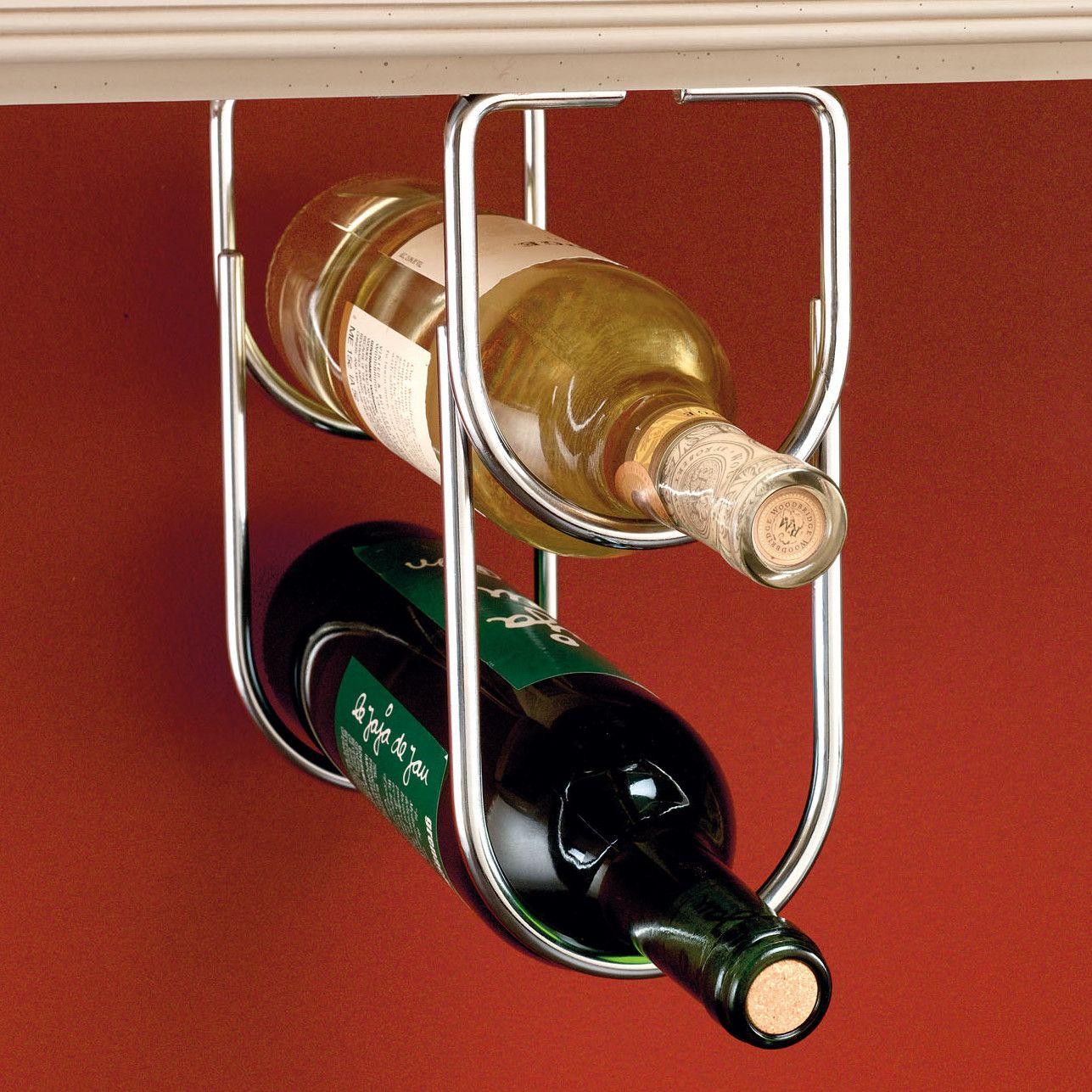 Rev A Shelf 2 Bottle Hanging Wine Rack Bottle Rack Hanging Wine Rack Wine Bottle Rack