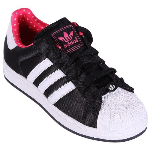 Adidas Superstar 2 W Damen Schuhe Originals Sneakers Schwarz