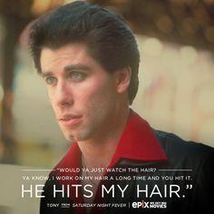 He hits my hair.