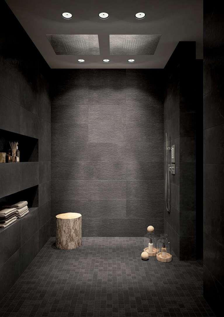 Tendenze bagno 2017 - Piastrelle nere | Bathroom designs, Bath and ...