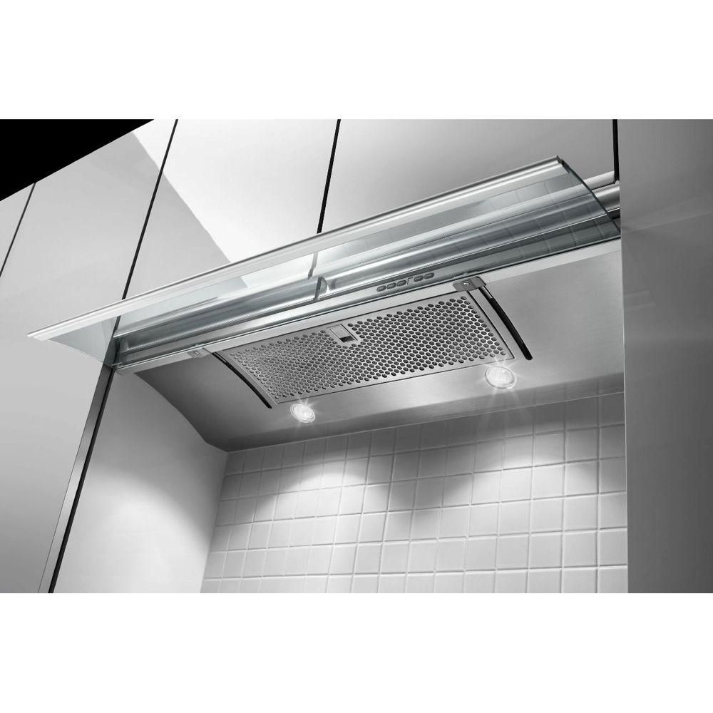 Kitchenaid 30 In Convertible Slide Out Range Hood In Stainless Steel Kxu2830yss The Home Depot Stainless Range Hood Range Hood Stainless Steel Range