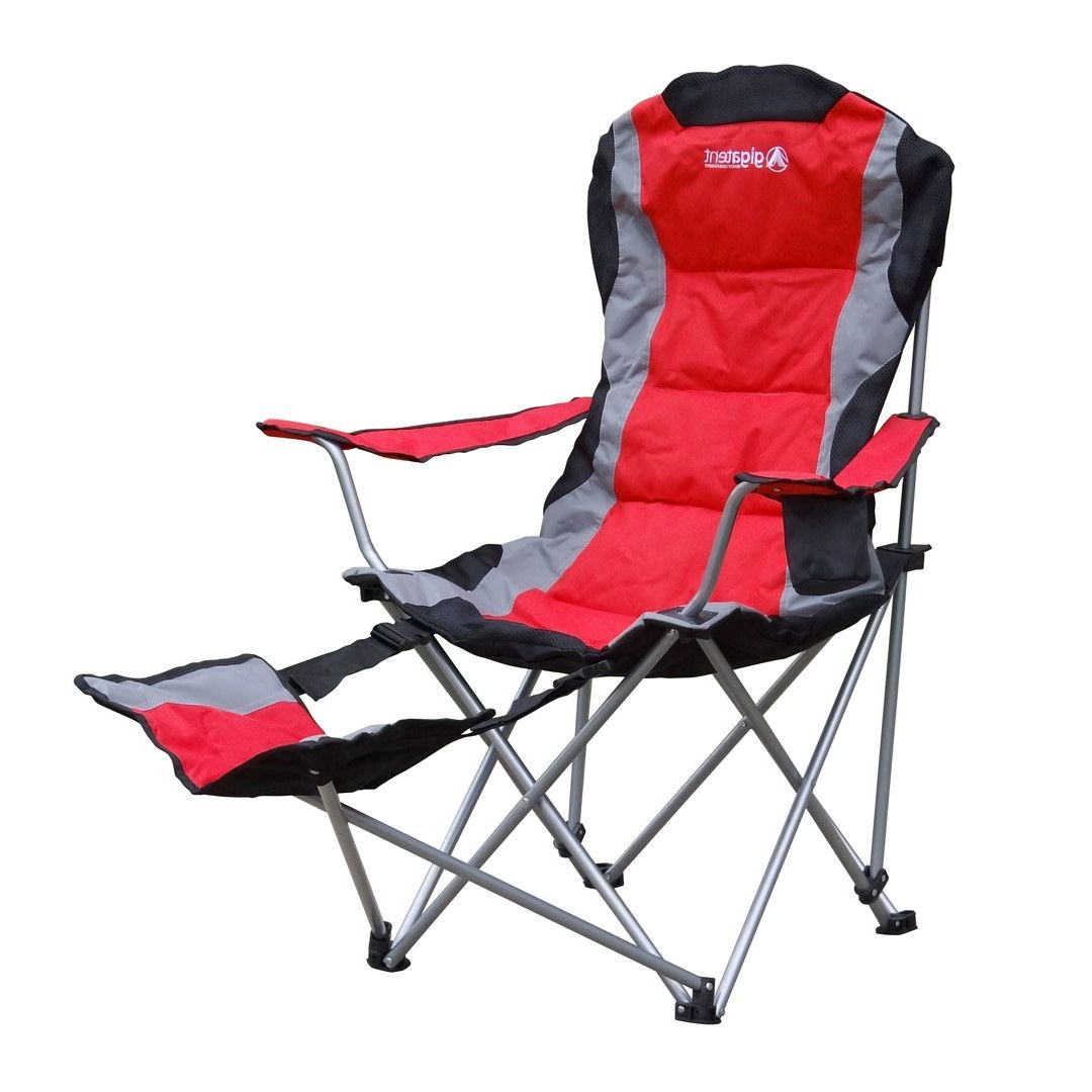 Folding camping chairs with footrest - Gigatent Folding Camping Chair With Footrest