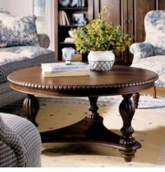 Round Pedestal Cocktail Table Keswick Kincaid Furniture Living Room Sofa Design Coffee Table Kincaid Furniture