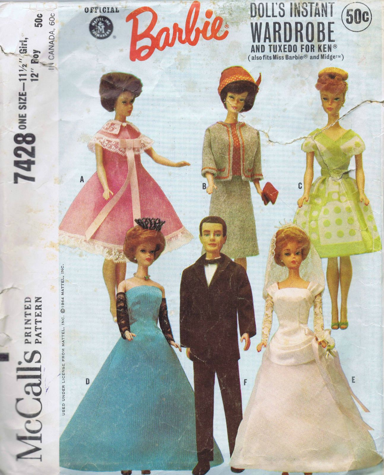 sewing pattern for the Silkstone Ken doll Blue Jeans
