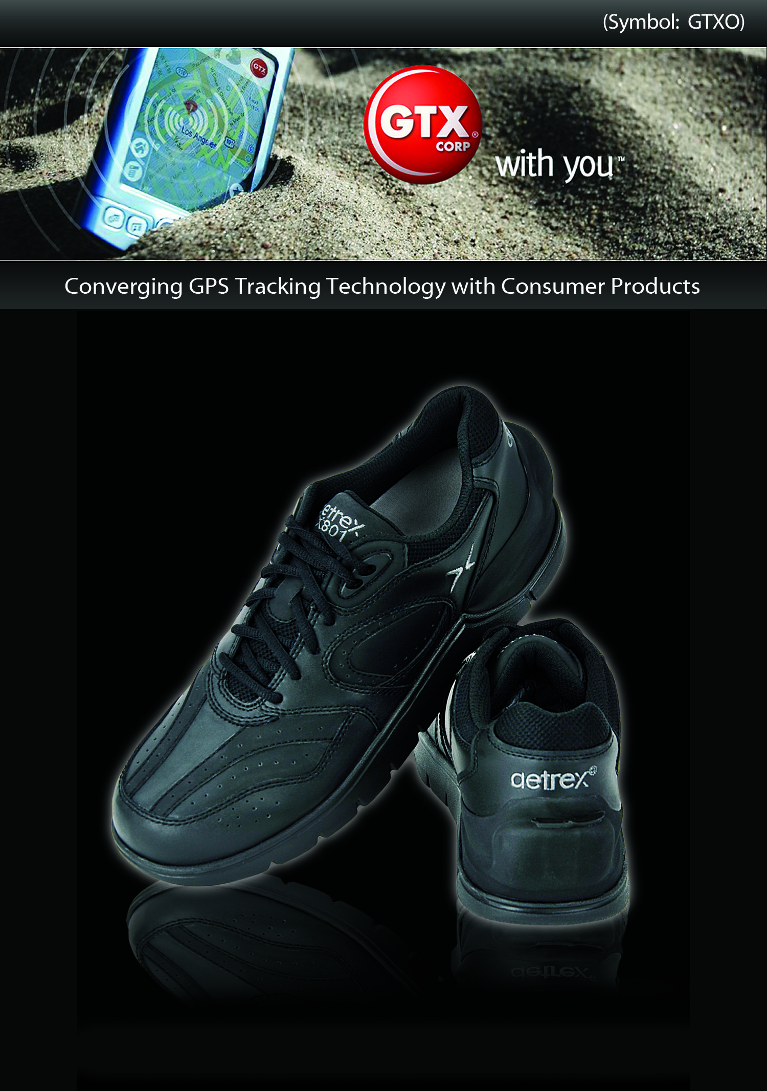 GPS Shoes by GTX Corp Converging GPS Tracking Technology