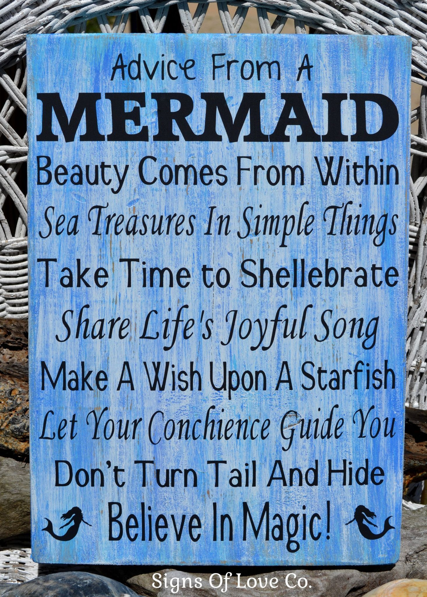 Beach Signs Beach Decor Mermaid Sign Advice From A Mermaid  # Muebles Sirena Animal Crossing