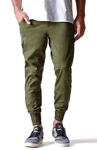 BYWX Mens Chino Joggers Basic Twill Drawstring Casual Jogger Pants