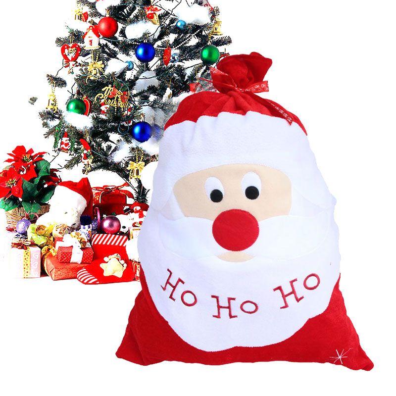 christmas decoration santa large sack stocking big bags xmas santa claus ho ho ho gifts bag - Christmas Decorations Large Santa Claus