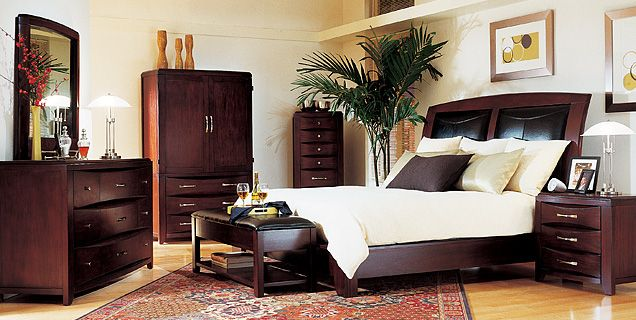 The Rodea bedroom set has a classically contemporary design with ...