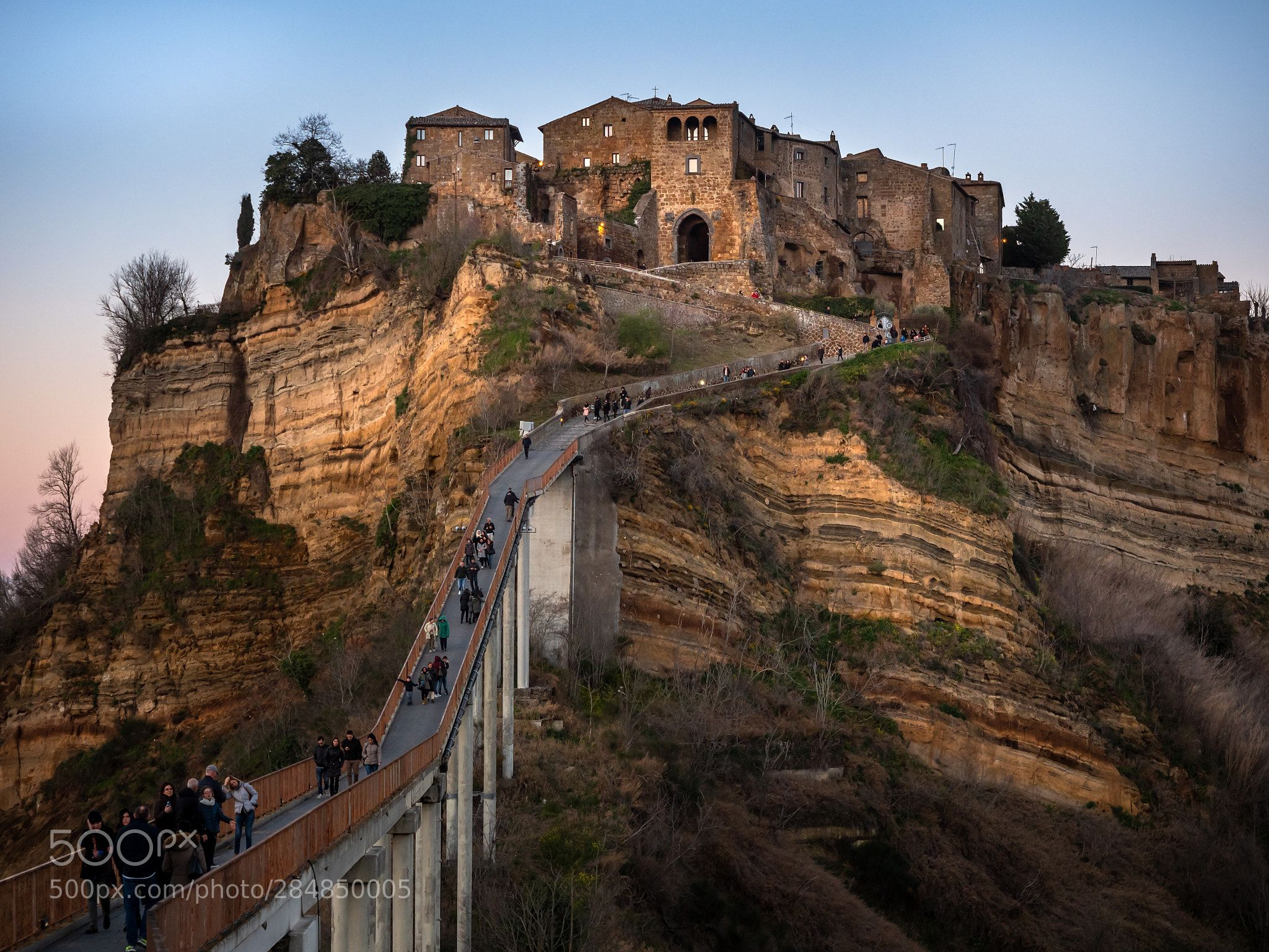 Layers Of Time Civita Di Bagnoregio In Italy As The Sun Gets Low