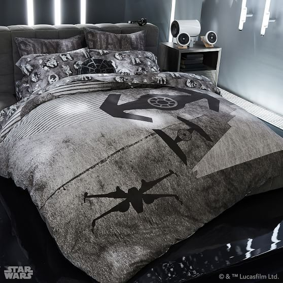 em>Star Wars</em>™ Space Chase Duvet Cover + Sham | Harry ...