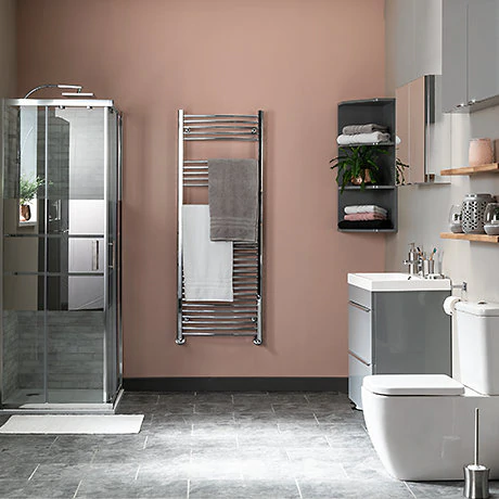 Bathroom Projects Diy At B Q In 2020 Bathroom Wall Coverings Metallic Painted Furniture Painting Bathroom