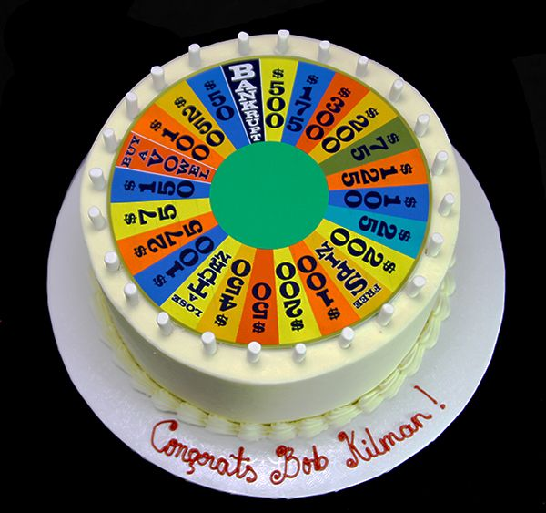 Wheel Of Fortune Cake By Butterfly Bakeshop Cake Amazing Cakes Celebration Cakes