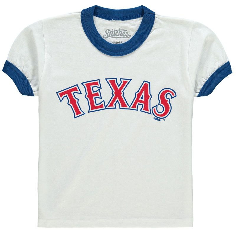 Texas Rangers Stitches Youth Ringer T Shirt White Royal Shirts T Shirt Shirts White