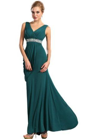 Carlyna eDressit V Neck Hot Green Evening Dress Prom Ball Gown ...