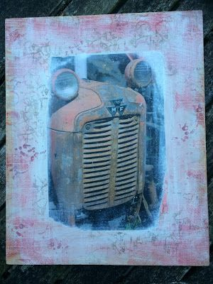 shabby dandelion: Red Tractor