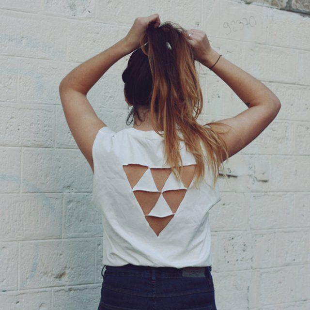 10 DIY pour customiser un T-shirt blanc |