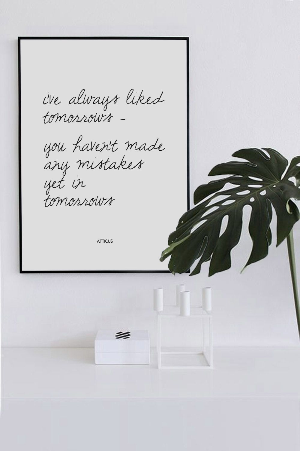 printable wall art quote modern minimal little lief creative www